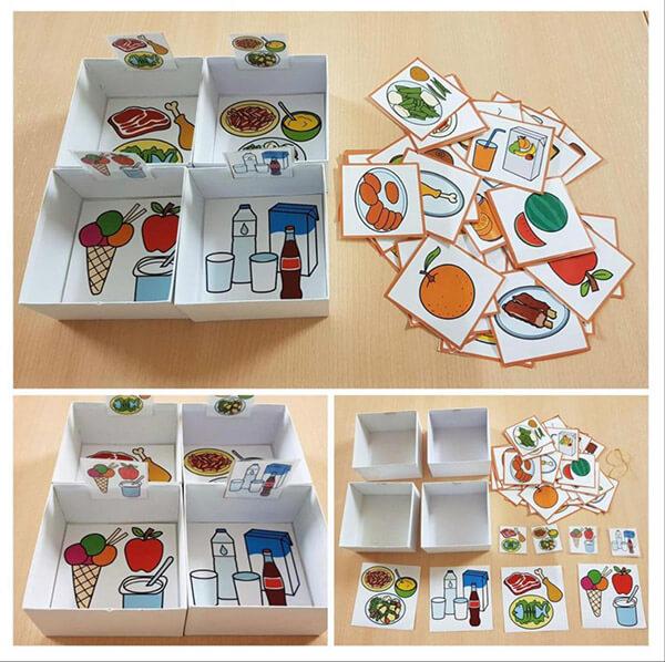 لعبة تصنيف الغذاء - ألعاب تعليمية لوحدة الغذاء