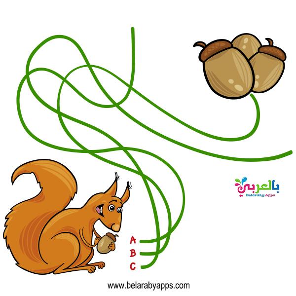 لعبة تعليمية غذاء الحيوان لرياض الاطفال