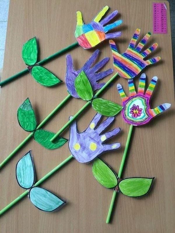 توزيعات لاطفال الروضة .. اعمال فنية لوحدة الأيدي