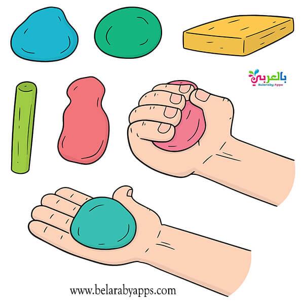 نشاط الصلصال لوحدة الأيدي رياض اطفال
