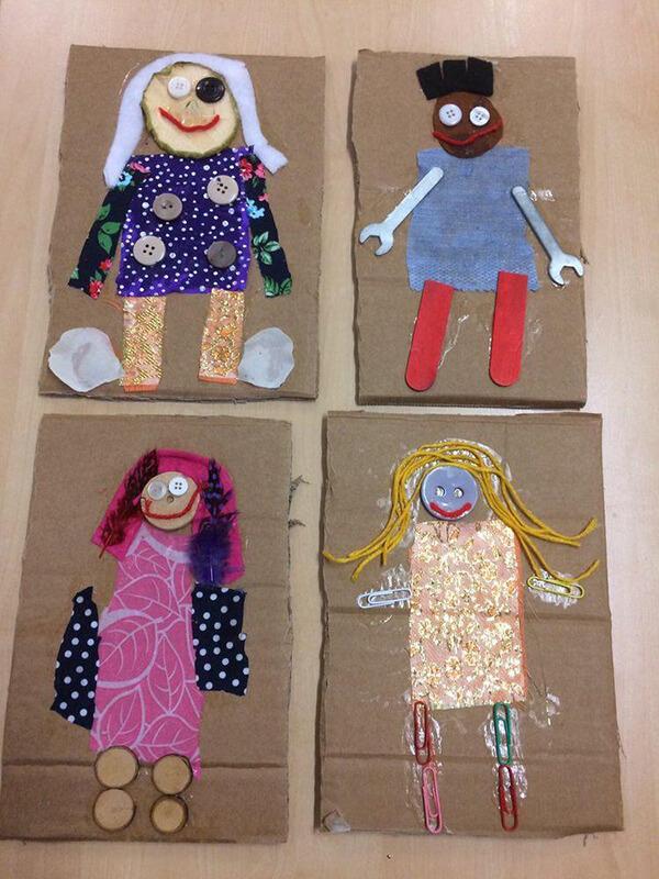 اعمال فنية للاطفال لوحدة الملبس