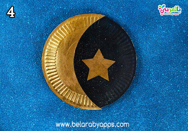 ramadan paper plate moon and star decoration