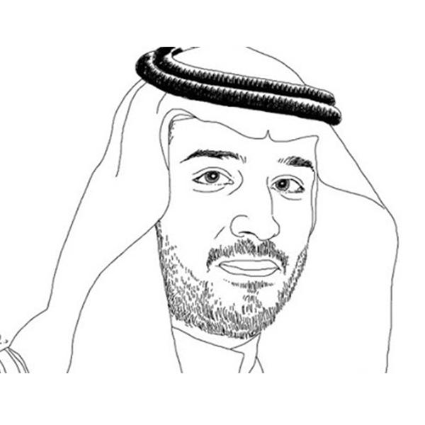 رسم محمد بن سلمان آل سعود