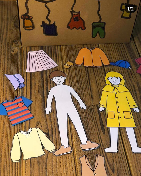 لعبة تعليمية لوحدة الملبس رياض أطفال