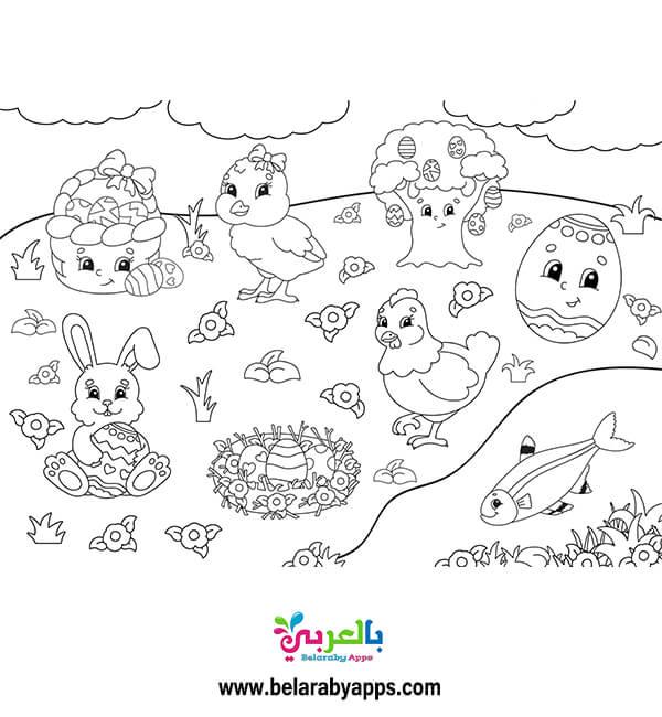 صور فرغة غن فصل الربيع للطباعة للاطفال