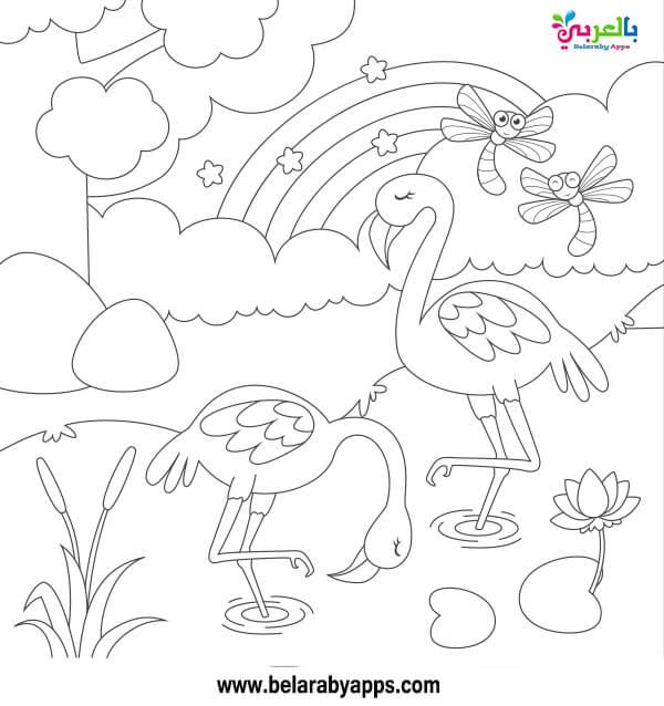 اوراق عمل تلوين لفصل الربيع للاطفال