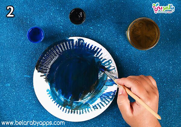 ramadan children's activities - ramadan paper plate moon and star decoration