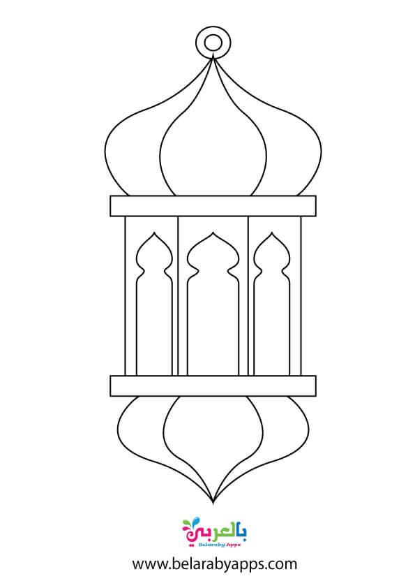 باترونات زينة رمضان .. فوانيس رمضان للطباعة
