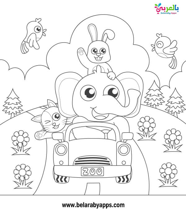 اوراق عمل للتلوين عن الربيع للاطفال للطباعة