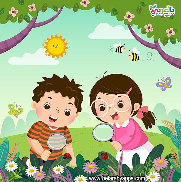 خلفيات كرتون للاطفال عن الربيع