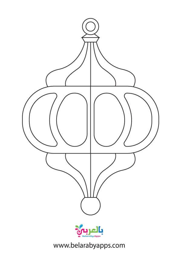 Ramadan lantern template printable