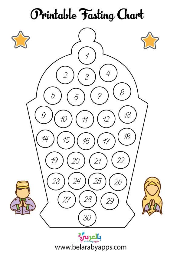 Ramadan Calendar Activity .. My Ramadan fasting chart