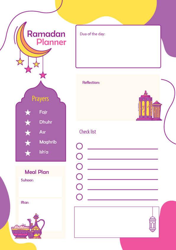 Free Ramadan planner 2021 for kids