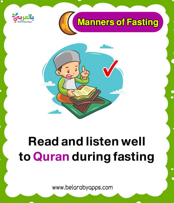 Flashcards about Ramadan fasting