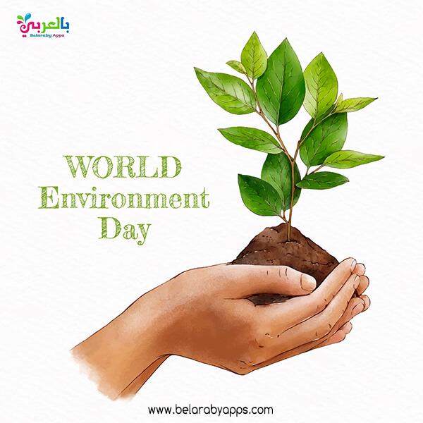 شعار لليوم العالمي للبيئة - رسومات عن اليوم العالمي للبيئة