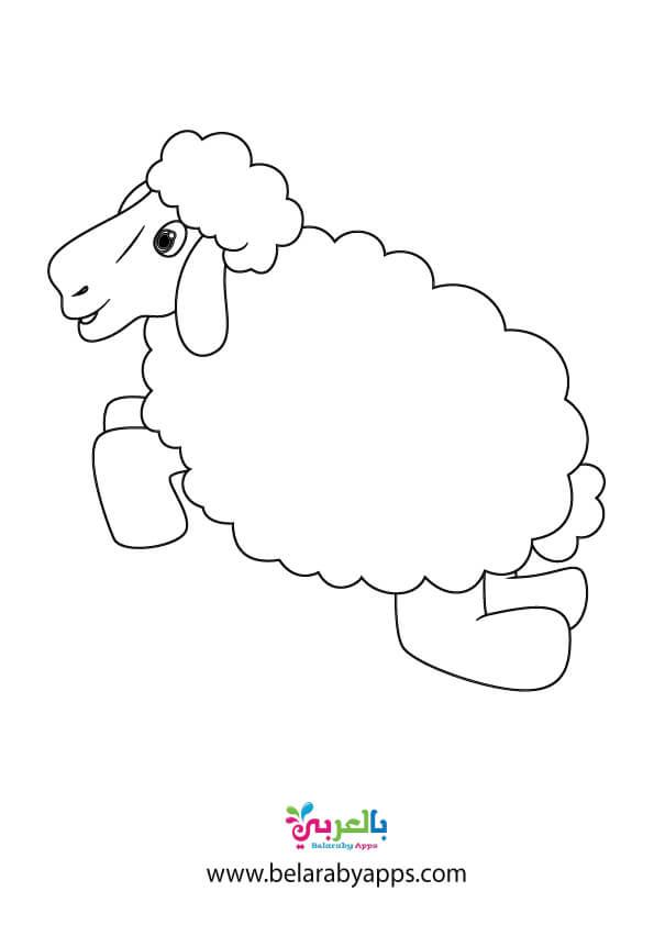 رسومات خروف عيد الاضحى ثيمات تلوين جاهزه للطباعه