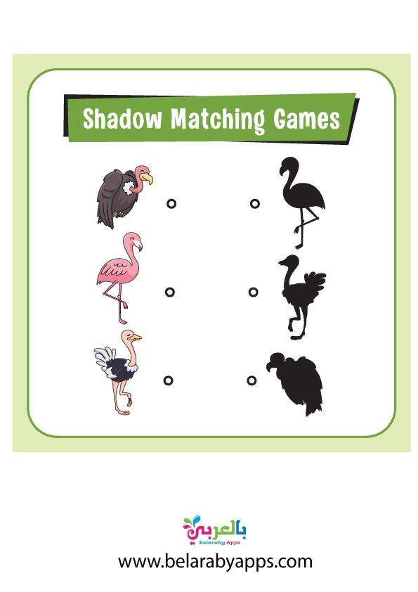 لعبة الاشكال المتشابهة حيوانات PDF