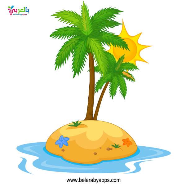 رسومات لفصل الصيف .. صورة جزيرة كرتون
