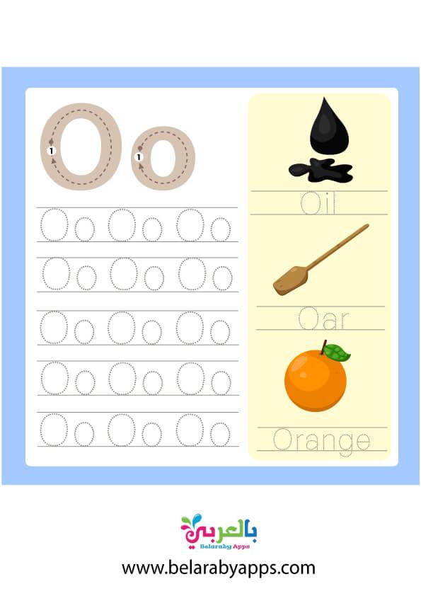 تعليم كتابة الحروف الانجليزية وكلمتها للاطفال