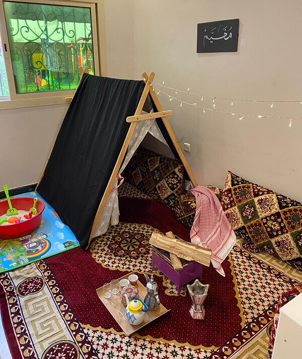 نشاط ختام وحدة الرمل لرياض الاطفال .. حياة البدو