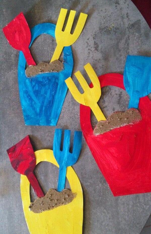 اعمال فنية ادوات الرمل لرياض الاطفال